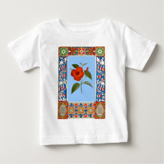 Vintage Flower Illustration And Border Baby T-Shirt