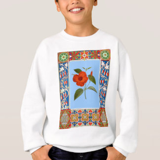Vintage Flower Illustration And Border Sweatshirt