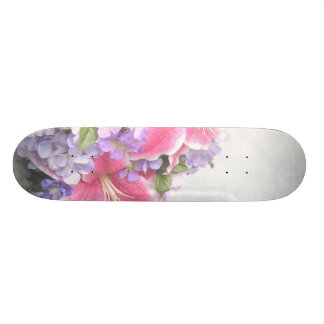 Vintage Flower Lilium Skateboard Deck