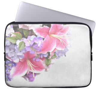 Vintage Flower Lily Computer Sleeve
