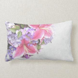 Vintage Flower Lily Lumbar Pillow