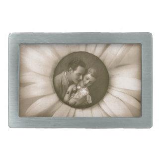 Vintage Flower Love Belt Buckles