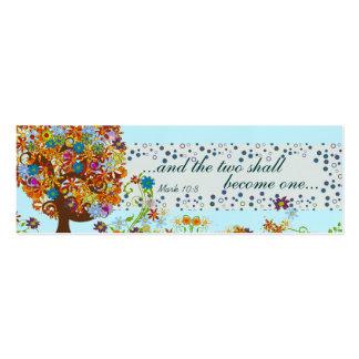 Vintage Flower Love Tree Wedding Tags Business Card Template