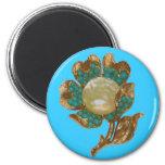 Vintage Flower Magnet