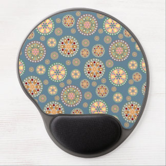 Vintage Flower Medallion Pattern Gel Mouse Pad