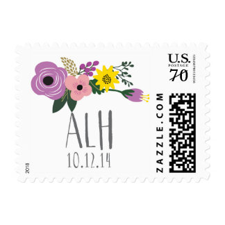 Vintage Flower monogram stamps