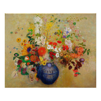 Vintage Flower Painting Poster