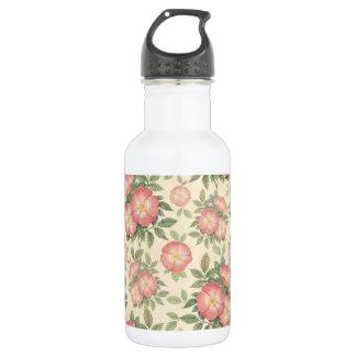 Vintage Flower Pattern 18oz Water Bottle