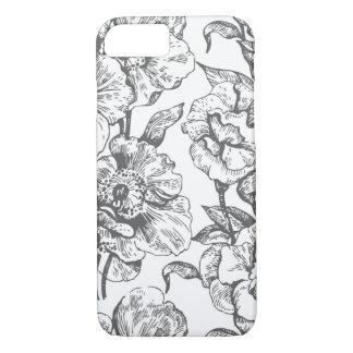 Vintage Flower Pattern Design Phone Case