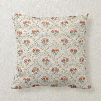 Vintage Flower Pattern Throw Pillow