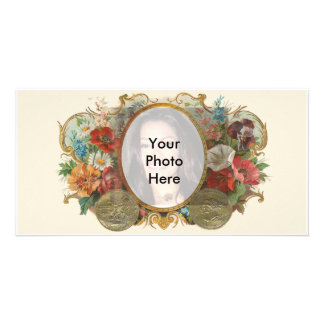 Vintage Flower Photo Card