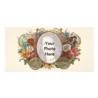 Vintage Flower Photo Customized Photo Card