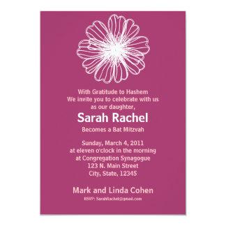 """Vintage Flower PInk Invitation 5"""" X 7"""" Invitation Card"""