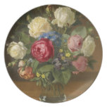 Vintage flower Plate