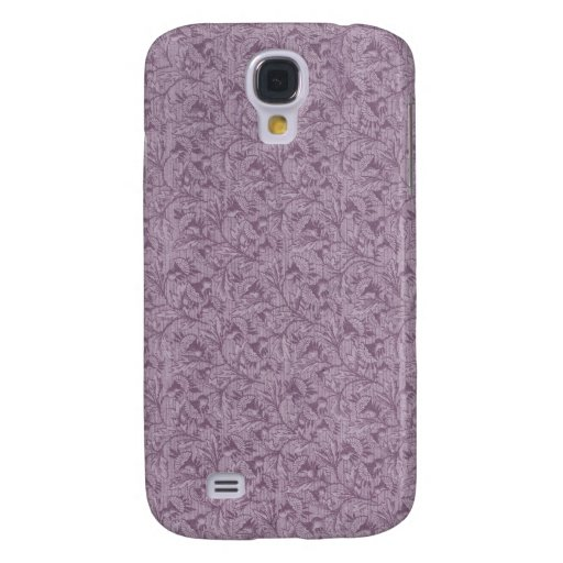 Vintage Flower Purple Stain Galaxy S4 Cases