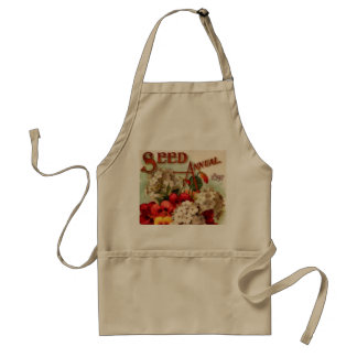 Vintage Flower Seed Catalog Cover Adult Apron