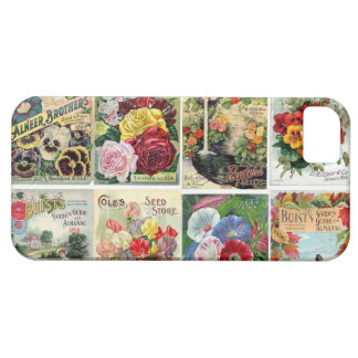 Vintage Flower Seed Catalogs Collage iPhone 5 Case