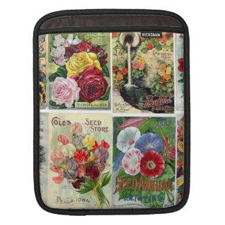 Vintage Flower Seed Catalogs Collage iPad Sleeves