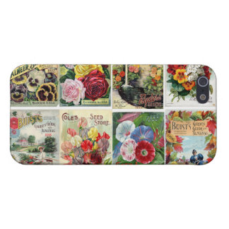 Vintage Flower Seed Catalogs Collage Case For iPhone 5