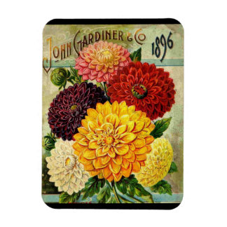 Vintage Flower Seed Packet- Flexi Magnet
