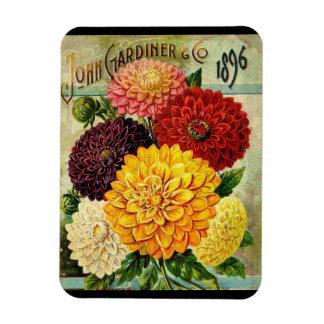 Vintage Flower Seed Packet- Flexi Magnet