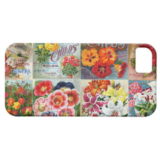 Vintage Flower Seed Packets Garden Collage iPhone 5 Case
