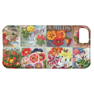Vintage Flower Seed Packets Garden Collage iPhone 5C Covers