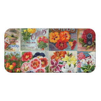Vintage Flower Seed Packets Garden Collage iPhone 5 Cover