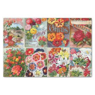Vintage Flower Seed Packets Garden Collage Tissue Paper