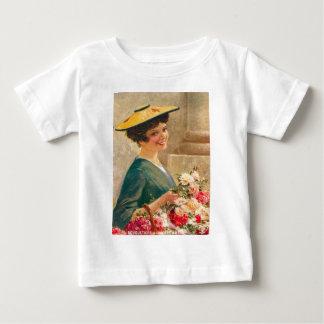 Vintage Flower seller, Cote d'Azur Baby T-Shirt
