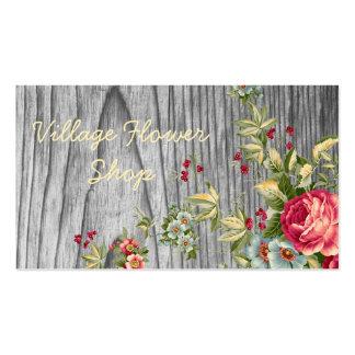 Vintage Flower Shop Business Card with Roses