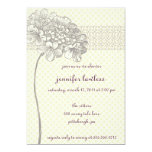"vintage flower shower invitation 5"" x 7"" invitation card"