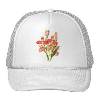 Vintage flower trucker hat