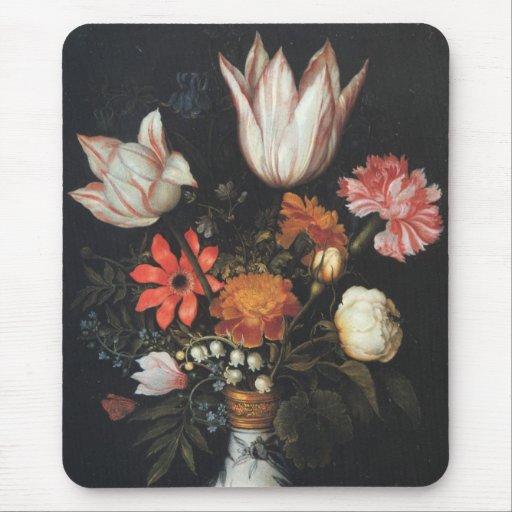 Vintage Flower Vase Fine Art Painting Ambrosius Mouse Pad