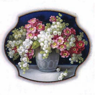 Vintage Flower Vase Photo Sculpture Keychain
