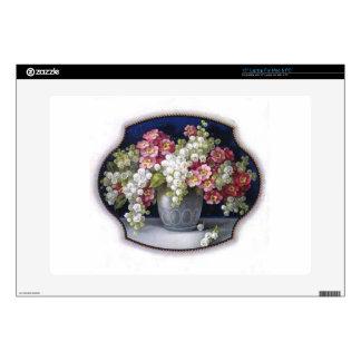 "Vintage Flower Vase 15"" Laptop Decals"