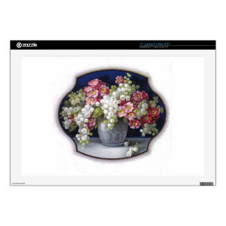 """Vintage Flower Vase Skin For 17"""" Laptop"""