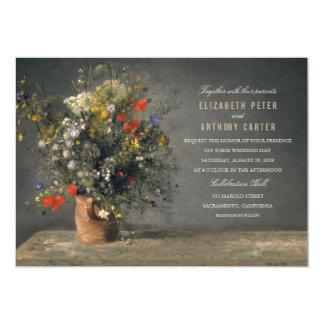 Vintage Flower Vase Unique Creative Wedding Card