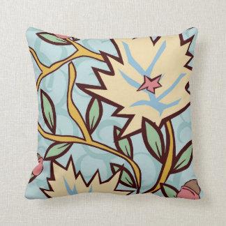 Vintage Flower Vine Throw Pillow