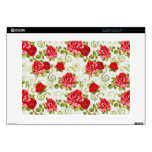 "vintage flowers 15"" laptop skin"