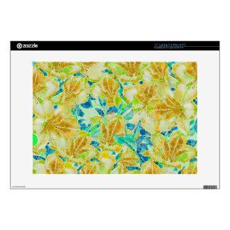"Vintage Flowers Abstract Pattern 15"" Laptop Skins"