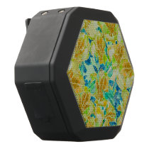 Vintage Flowers Abstract Pattern Black Bluetooth Speaker
