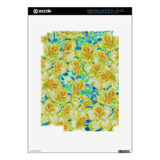 Vintage Flowers Abstract Pattern iPad 3 Skin