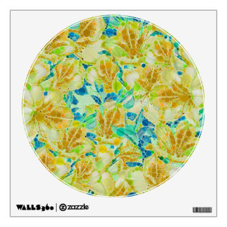 Vintage Flowers Abstract Pattern Wall Sticker