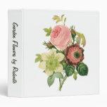 Vintage Flowers, Anemone Roses Clematis by Redoute Vinyl Binders