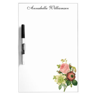 Vintage Flowers, Anemone Roses Clematis by Redoute Dry-Erase Board