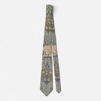 Vintage Flowers Art, Honeysuckle by William Morris Neck Tie