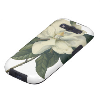 Vintage Flowers, Blooming White Magnolia Blossom Samsung Galaxy SIII Case