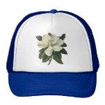 Vintage Flowers, Blooming White Magnolia Blossom Trucker Hat