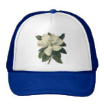 Vintage Flowers, Blooming White Magnolia Blossom Trucker Hat